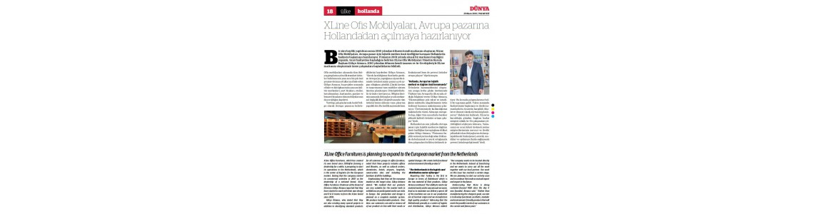 XLine Ofis Mobilyaları, Avrupa pazarına Hollanda'dan açılmaya hazırlanıyor